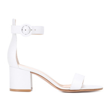 2018 Latest New Design Summer Ladies Sandals High Heel Girl Fancy Chunky Heel Shoes Wholesale Cheap PU Sandals Women
