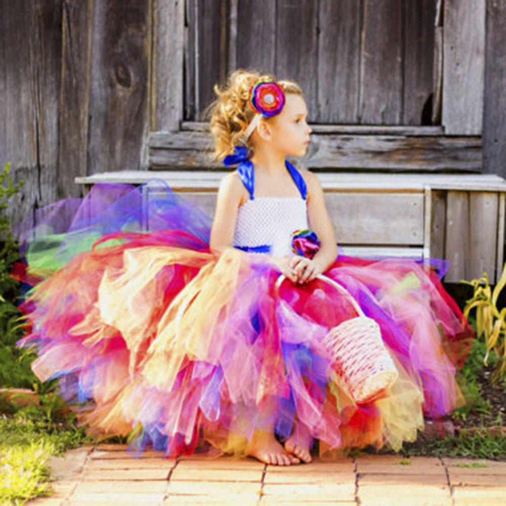 Excepcional Vestido De La Dama De Honor Del Arco Iris Adorno ...