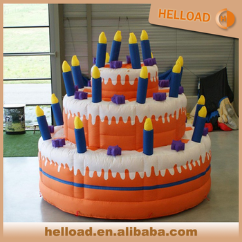 Custom Made Large Inflatable Fruit Birthday Cake For Decoration