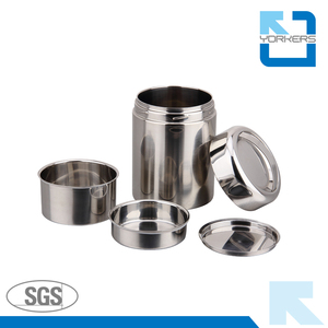 Popular double wall stainless steel tiffin box round food carrier