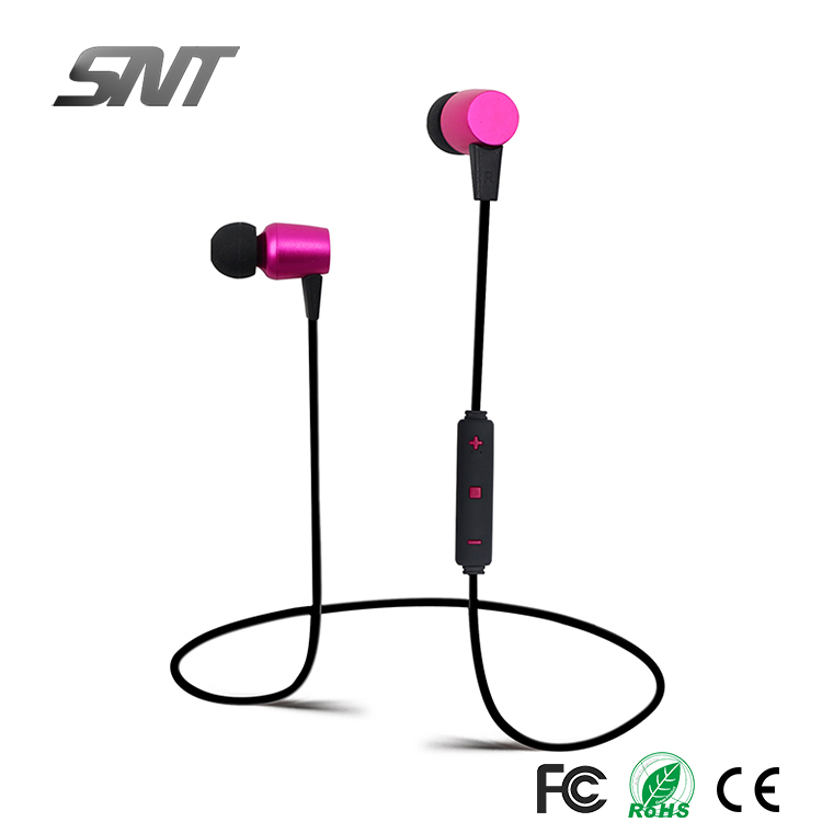 2018 new metal wireless bluetooth earphone with microphone