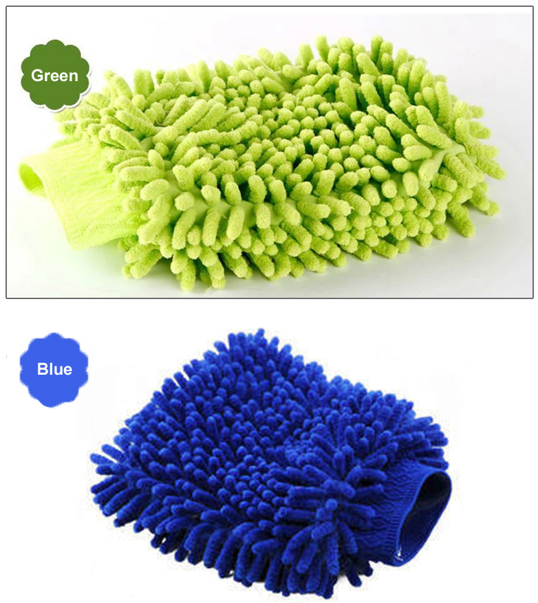 Hot saling 2019 new design microfiber Micustom double side chenille wash miglove car cleaning (SS-WT10)