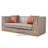 Saudi Arabic Dubai Royal Living Room Luxury Crushed velvet Italian Design Sofa