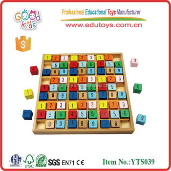 Colorful Number Board Educational Games Preschool Wooden Math Learning Toy