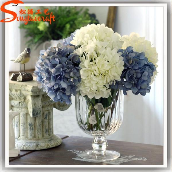 tous les types de fleurs gros artificielle fleurs d 39 hortensia fleurs guirlande de d coration. Black Bedroom Furniture Sets. Home Design Ideas