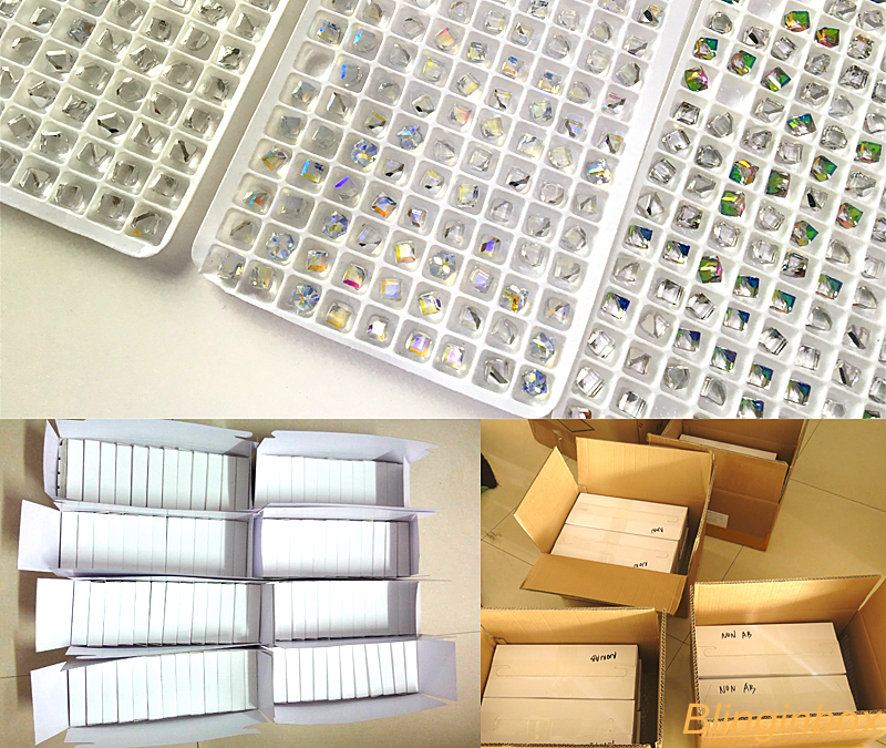 4mm Nail art square cube glass beads wholesale 20 colors available 720pcs/box