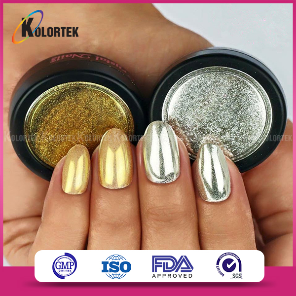 Chrome Gold Metallic Nail Polish Powder,Nail Polish Pigment For Nail ...