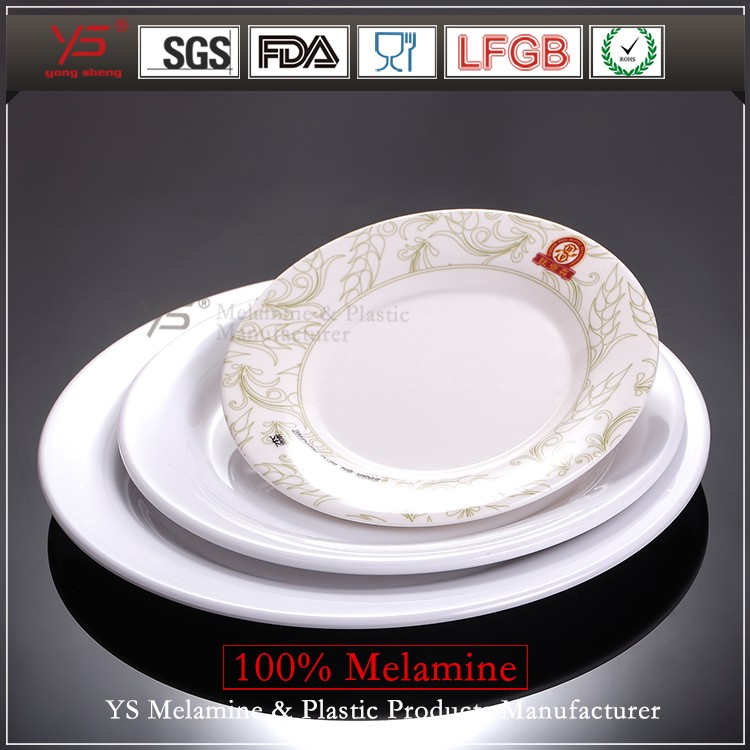 Imitation bone fashion royale china elegance european melamine ware dishes elegant colorful melamine dinner plate