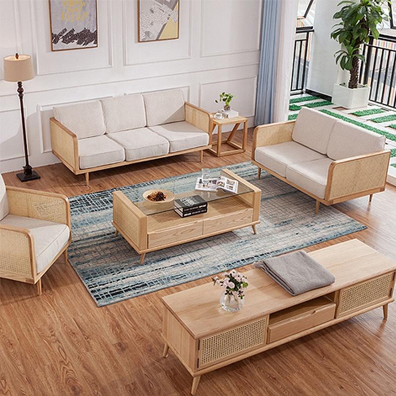 Sample Modern Design Living Room Nordic Wood Leisure Rattan ...