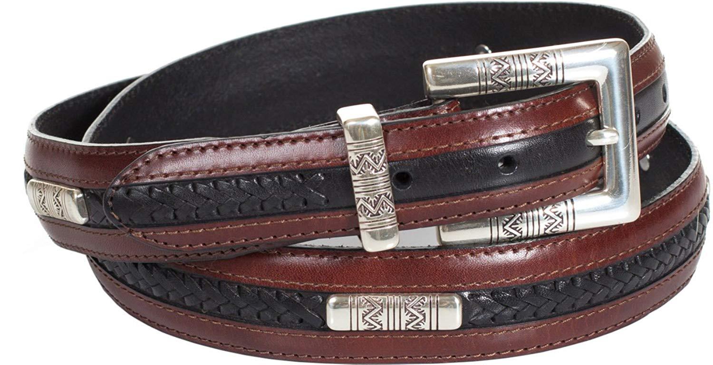 Navajo Ornament Taper Leather Belt