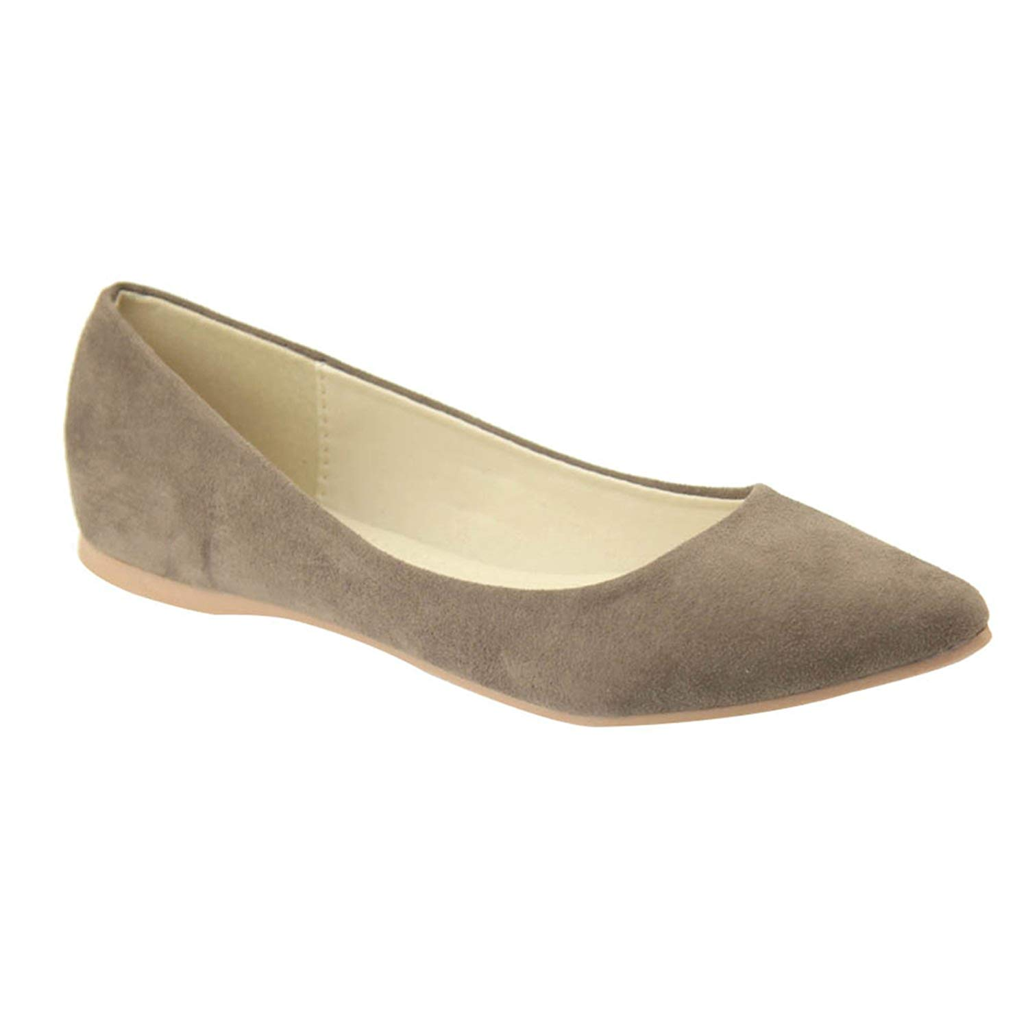 c2ad4cfcc27b9 Get Quotations · Women's Classic Pointy Toe Ballet Flat Shoes Soft Casual  Dressy Slip on Loafer Flats