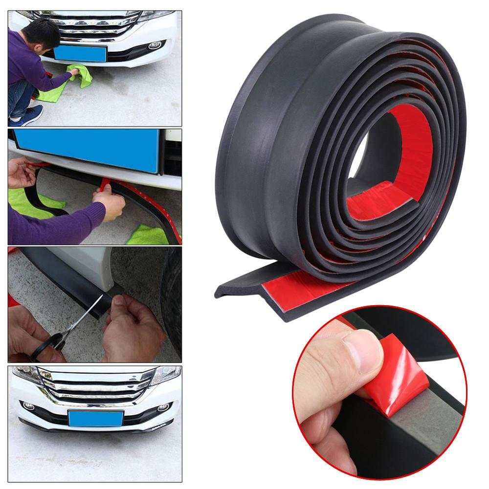 100'' Car Front Bumper Lip Splitter Spoiler Lip Skirt Rubber Carbon Fiber Protector