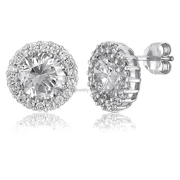 Diamond Silver Stud Earrings Designs For S And Kids Fashion Earring Eesigns New Model