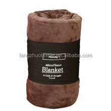low price cheap super soft roll up fleece blanket