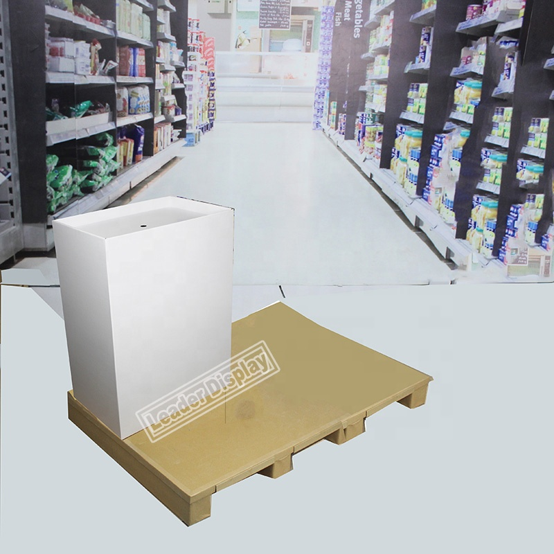 Recycled Retail EU Pallet Candy Display Bin Display Rack Cardboard Dump Bin