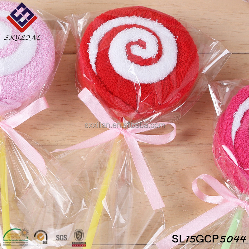 Cake towel creative gift birthday gift kindergarten lollipop handmade towels