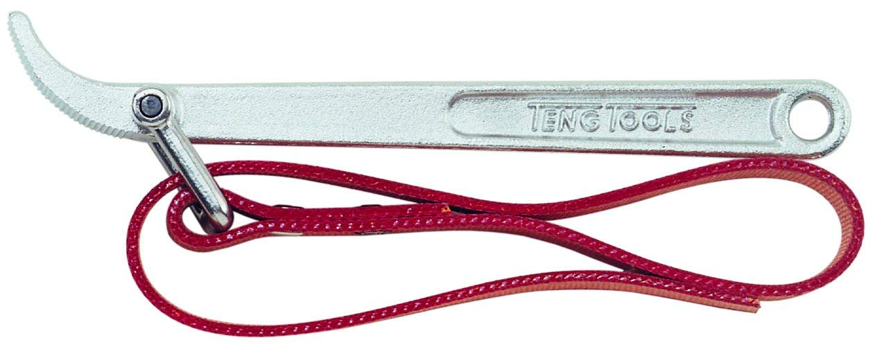 Teng Tools Fully Adjustable Oil Filter Wrench with Heavy Duty Strap - 9123