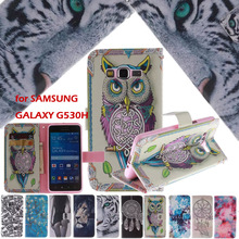 Fashion Design Luxury Leather Case for Samsung Galaxy Grand Prime G530 G530H G5308 G530fz Flip Wallet Cover ID Slots Funda Coque