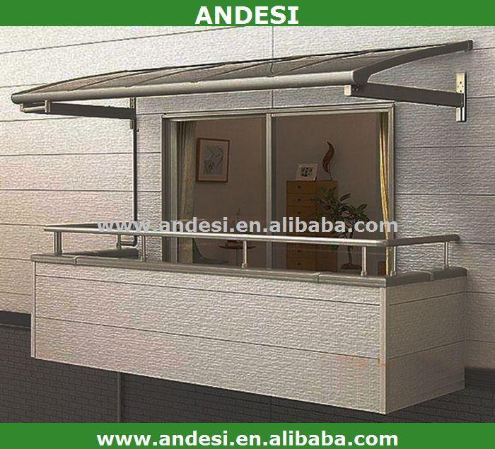 Abri toit en plastique pour le balcon auvents id de for Fenetre de toit balcon