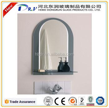 Wall Mounted Aluminum Mirror Bathroom Mirror Polished Edge