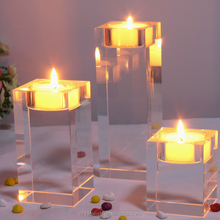 wholesale cheap pillar three piece suit geometric votive candle holder