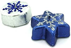 "Metallic Glitter Snowflake Candles [24 Pieces] - Product Description - Candles Are Metallic Colors And Round Or Star-Shaped, With Glitter Snowflake Patterns Painted On The Top. Colors: White, Blue, Silver. Each Candle Measures 2"" X 1"" X 2"" ..."