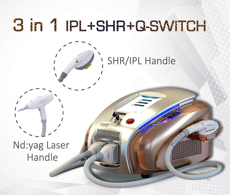 multifunctional beauty ipl shr tattoo removal laser machine