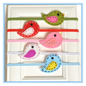 Cute felt fabric birds baby headband lovely animal headbands for kids