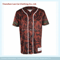 American style men's baseball t shirt short sleeve sublimation baseball team jerseys