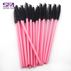 Cheap Hot Pink eyelash extensions brushes disposable makeup mascara wands