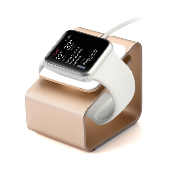 For iWatch Aluminum Metal Charging Stand Charging Bracket Docking Station Stock Cradle Holder for Apple Watch 38mm/42mm