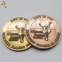 Free sample high quality Michael Jackson embossed Souvenir Coins