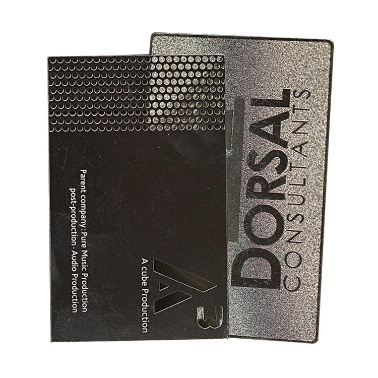 Wholesale high quality stainless steel business card customized matt black metal cards made in China