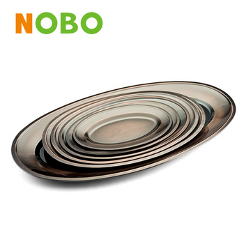 High quality copper Stainless steel wedding dinner plate