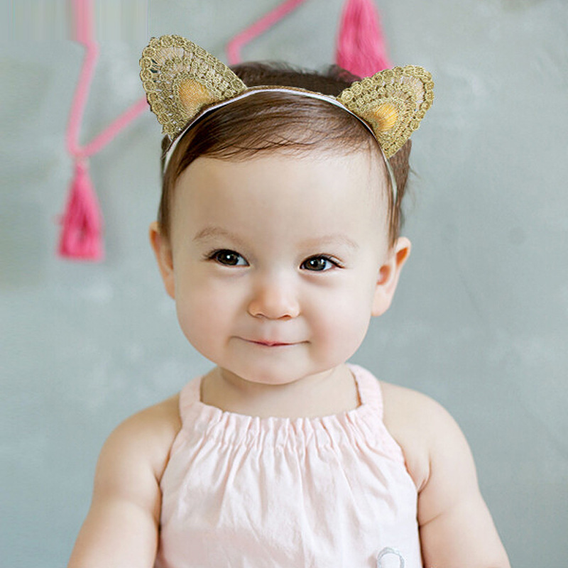 S31778W New Cute Cat Ears Elastic Hair Bands Korea Equosite Animal Pattern Hair Accessories