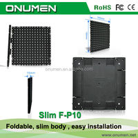 Shenzhen New Led screen outdoor used P10mm concert stage design fast foldable screen