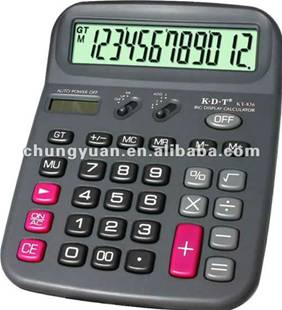12 digit jeweled solar panel texas instruments calculator KT-836