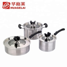 stainless steel modern cooking parini cookware set with box