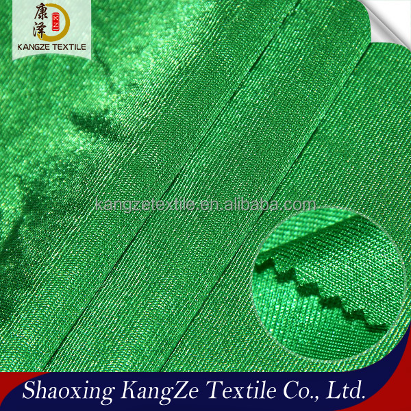 Kangze Textile polyester Knitted 75D super Shiny fabric for garment interlings