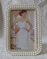Wholesale Pearl Silver Plated Picture Photo Frame(P0159835c)