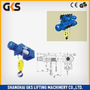 Cd1 Cable Pulling Electric Crane Hoist/ Motor Hook Parts - Buy ...