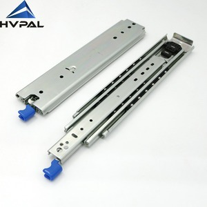 HA76 76mm Width 3-fold Drawer Runners Side Mount 500 lbs Heavy Duty Ball  Bearing Drawer Slides For Industrial workstations