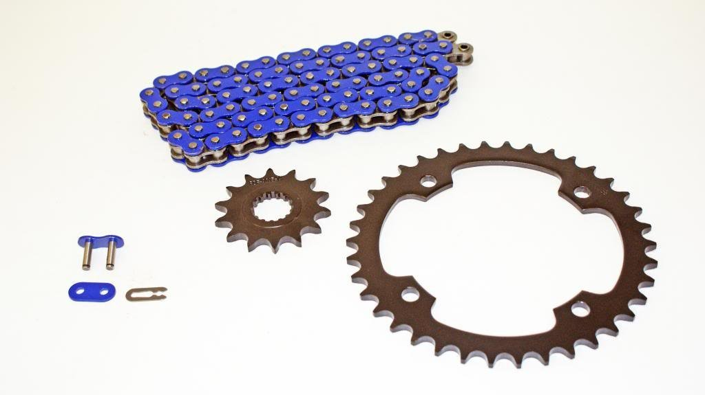 Yamaha Warrior 350 1989-2004 More Speed Yellow O-Ring Chain and Sprocket Set