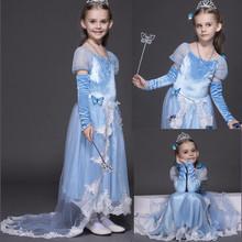 Kids Clothes Girls Cinderella Long Train font b Dresses b font font b Fancy b font