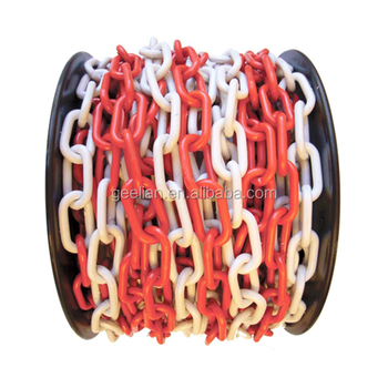 Red or White S/O Shaped Ring in Cone Bollard Chain for Traffic Lane Limitation Deployed
