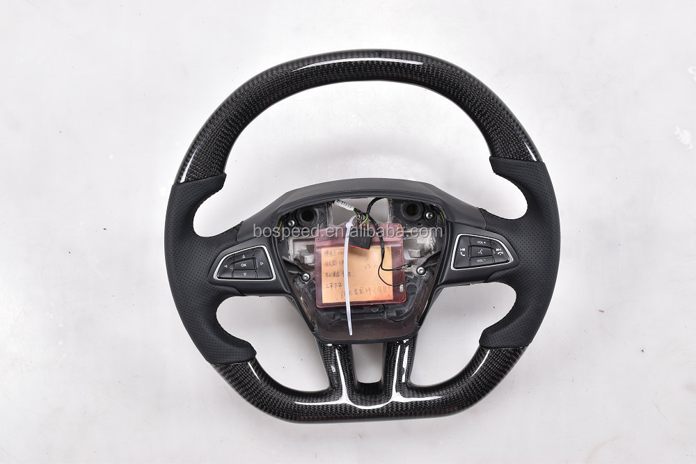 For New Ford Focus carbon fiber car steering wheel