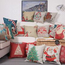 Cartoon Deer font b Santa b font Claus Printed Cotton font b Christmas b font Cotton