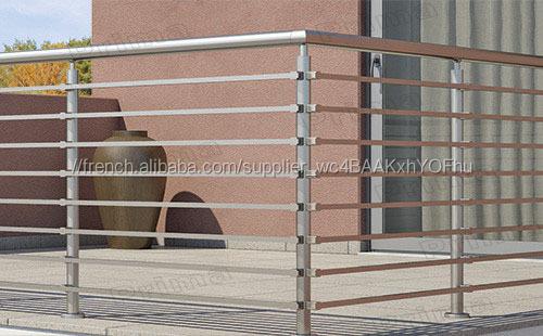 balcon anti rouille en acier inoxydable tige conception de garde corps pour l 39 ext rieur pr s de. Black Bedroom Furniture Sets. Home Design Ideas