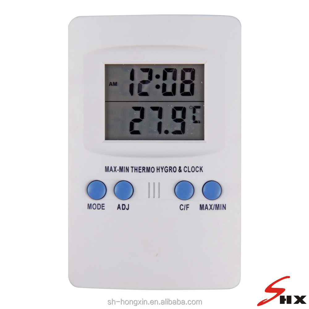 Digital Max/Min Thermometer Hygrometer with Clock