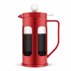 Plastic coffee plunger / borosilicate glass coffee pot / French Press with 304 filter